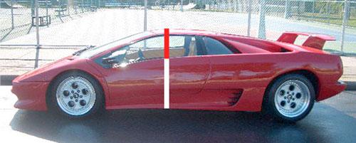 Aranymetszés Lamborghini Diablón