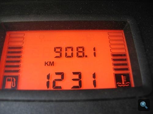 Eddig megtett kilométerek: 908