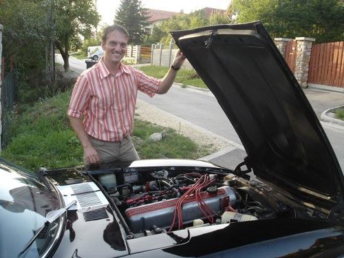 Fekete Datsun 280Z és tulajdonosa, Antal Krisztián