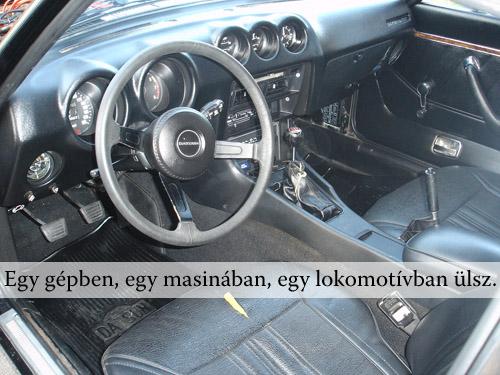 Fekete Datsun 280Z utastere