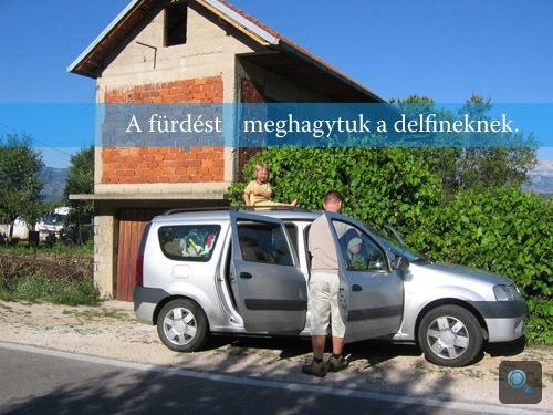 A szerző és a Dacia útjuk végén, Čiovo szigetén