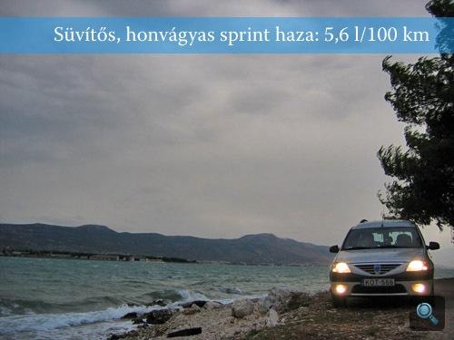A Dacia a viharos tengerparton