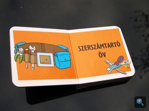 Az 'Egy nap a műhelyben' című könyv Szerszámok kötetéből a szerszámtartó öv