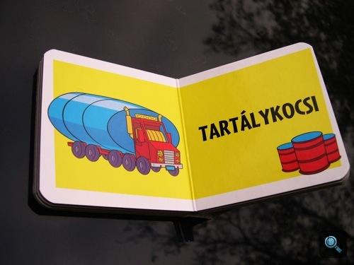 Az 'Egy nap a műhelyben' című könyv Járművek kötetéből a tartálykocsi