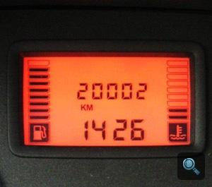A Dacia kilométerszámlálója 20002-n