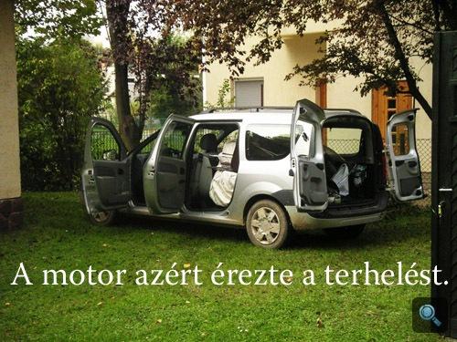 A telepakolt Dacia oldalról