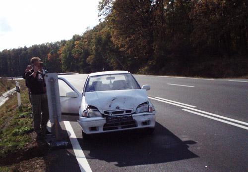 A Swift a baleset után, elölről