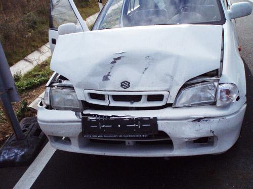 A Suzuki összetört orra