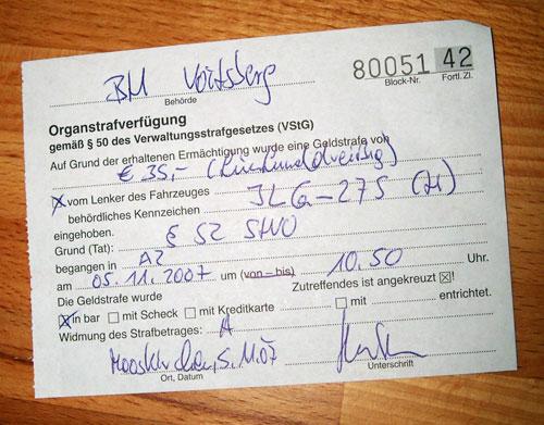 Osztrák autópályabírság 35 euróról