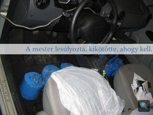 Súlyok az új Daciában az Istvánko Bosch Car Service teljesítménymérő padján