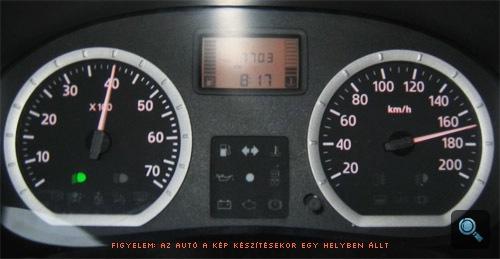 Dacia műszerei a teljesítménymérő padon