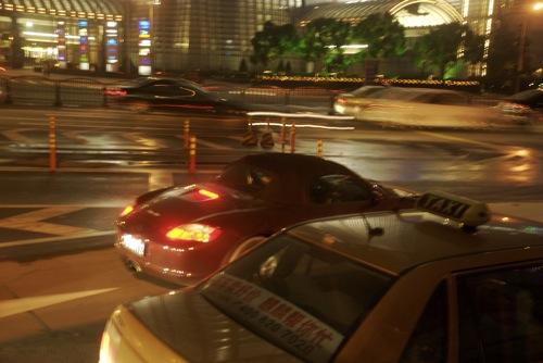Második generációs Porsche Boxster Pudongban