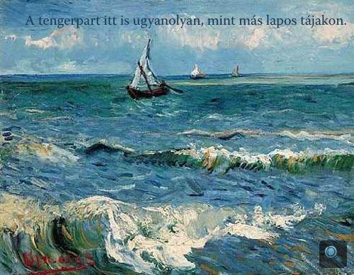 Vincent van Gogh: A tenger Saintes-Maries-de-la-Mernél