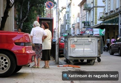 Alfa Romeo RZ és két néni Szófia belvárosában