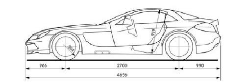 Mercedes-Benz SLR McLaren vázlata