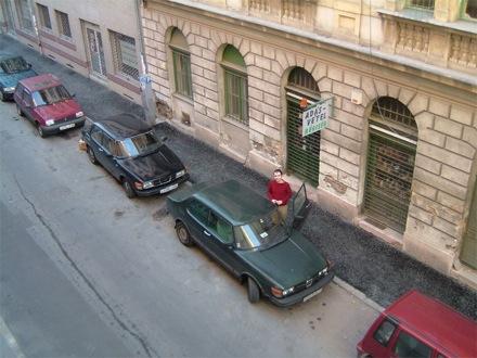 Karotta egykori fekete Saab 99 projektautója és Füge Saab 99 Turbója