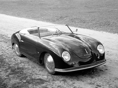 Fekete Porsche 550 Spider
