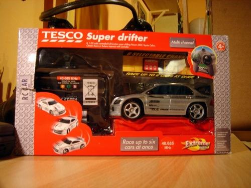 Tesco Super Drifter játékautó