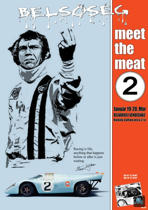 A január 19-i Belsőség-buli plakátja. Készítette: Omm