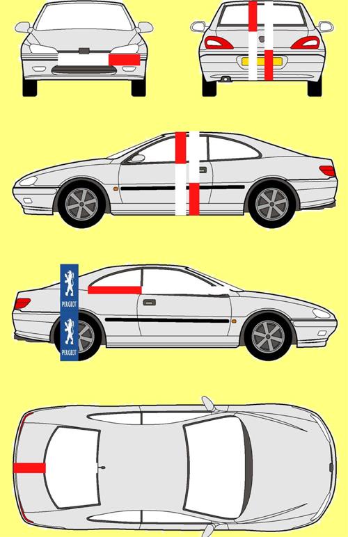 Aranymetszés a Peugeot 406 kupén