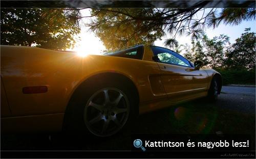 Sárga Honda NSX oldalról. Fotó: miki3d