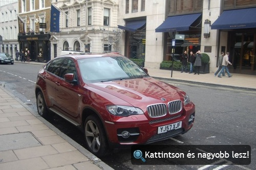 BMW X6 Londonban. Fotó: Sbb