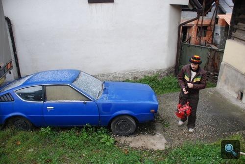 Mitsubishi Celeste Štramberkben, mellette Omm