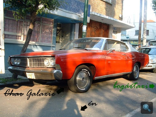 1968-as Ford Galaxie Mexikóvárosban