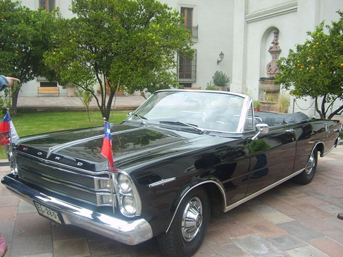 Az 1966-os chilei elnöki Ford Galaxie. Fotó: Valo