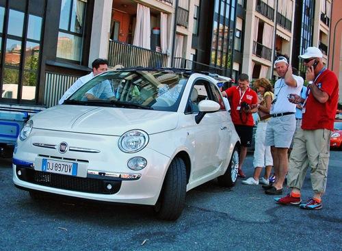 Új Fiat 500 az autó olaszországi bemutatóján. Fotó: Péter Anna