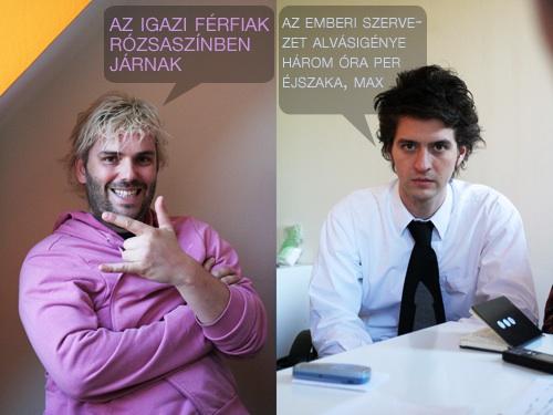 Winkler Róbert és Orosz Péter a Totalcar szerkesztőségi értekezletén. Fotó: Gyulavitéz