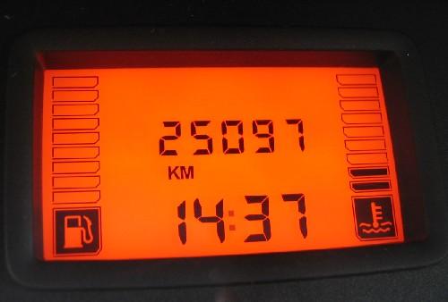 A Dacia Logan MCV kilométerórája 25097-es állásnál