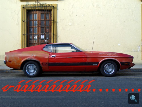 Mustang Mach 1 Mexikóvárosban