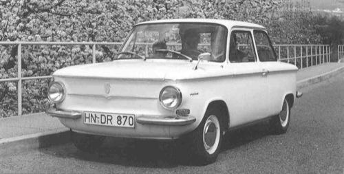 1962-es NSU Prinz 4 S limuzin. Forrás: Fredy's NSU Page