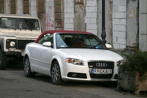 Rubint Réka fehér Audi A4 kabriója. Fotó: AlieN