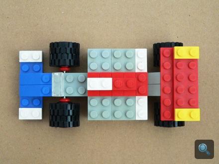 Régi F1 Lego-autó. Fotó: Csaba