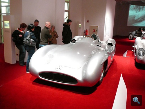 Mercedes-Benz W196 Typ Monza a Bécsi Műszaki Múzeum Chromjuwelen - Autos mit Geschichte kiállításán. Fotó: Bpower