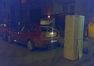 Alfa Romeo 159 SW, Szözsi, és a belepakolandó szekrény