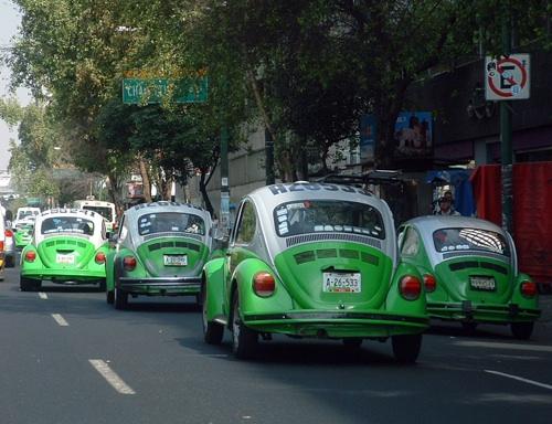 Volkswagen Bogár taxik Mexikóvárosban