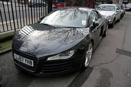 Audi R8 Londonban. Fotó: Petrány Máté