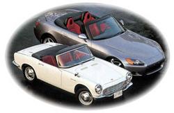Honda S600 és S2000 egymás mellett. Forrás: HondaS600.com