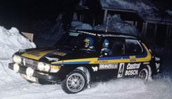 Az eredeti Saab 99 Turbo raliautó elérhetetlen
