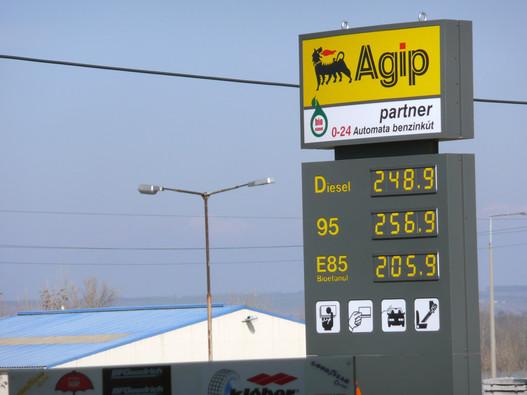 Az üzemanyag persze itt sem olcsóbb