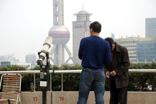 A jövő a Huangpu folyó másik partján figyelhető meg