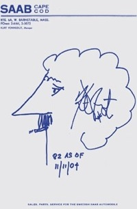 Kurt Vonnegut levélpapírjaSaab-díler korából