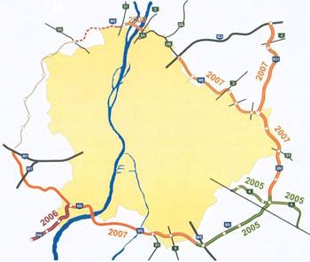 budapest térkép m0 Totalcar   Magazin   Az M0 s 1986 tól 2007 ig budapest térkép m0