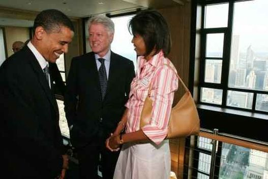 Bill Clinton, Barack és Michelle Obama