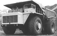BalAZ teherautó 1961-ből, hasonló motorral