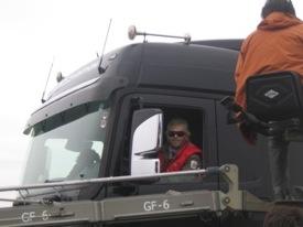 Winkler és az Actros kamion