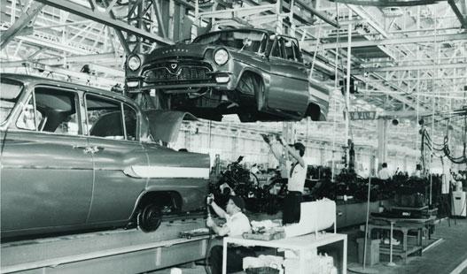 A Motomacsi gyár a hatvanas években